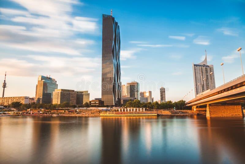 Горизонт вены на Дунае стоковое фото rf