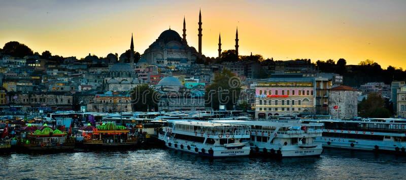 Горизонт в Стамбуле, Турции стоковые изображения rf