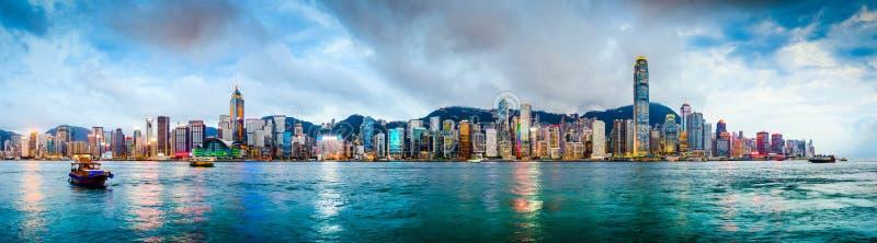 Горизонт Гонконга Китая стоковое фото rf