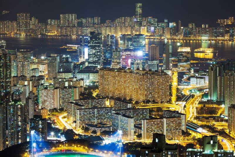 Download Горизонт Гонконга стоковое фото. изображение насчитывающей housing - 33737910
