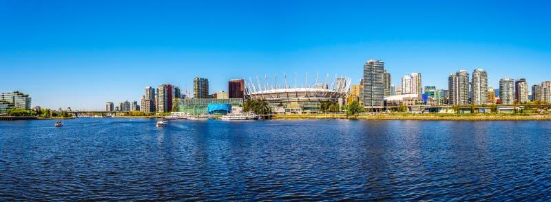 Горизонт города Ванкувера, Британской Колумбии, Канады стоковые фотографии rf