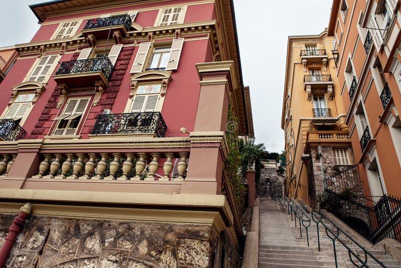 Горизонт города восхода солнца архитектуры Монако Ville красочный строя стоковые фотографии rf
