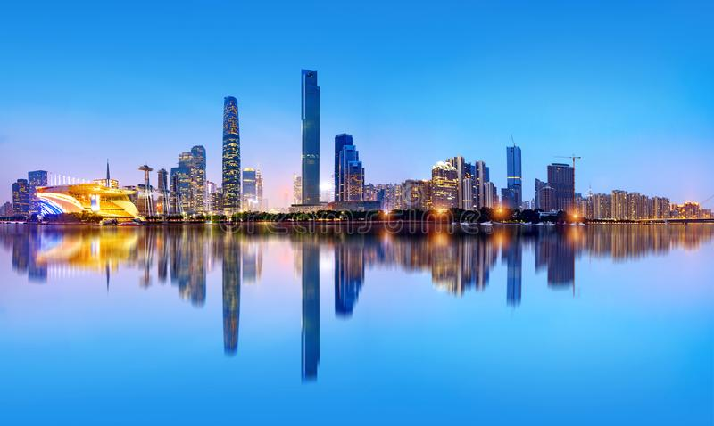 Горизонт города Гуанчжоу стоковые фото