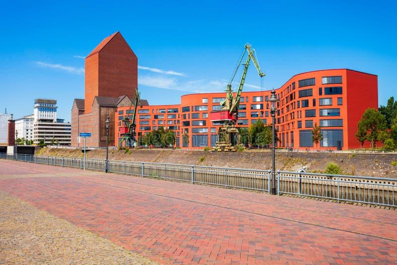 Горизонт города Дуйсбурга в Германии стоковое фото