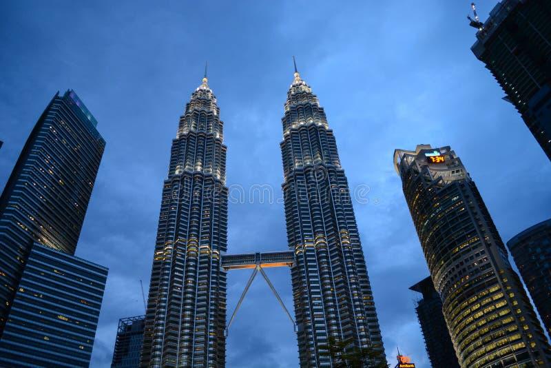 Горизонт города Куалаа-Лумпур, Малайзия стоковое фото rf
