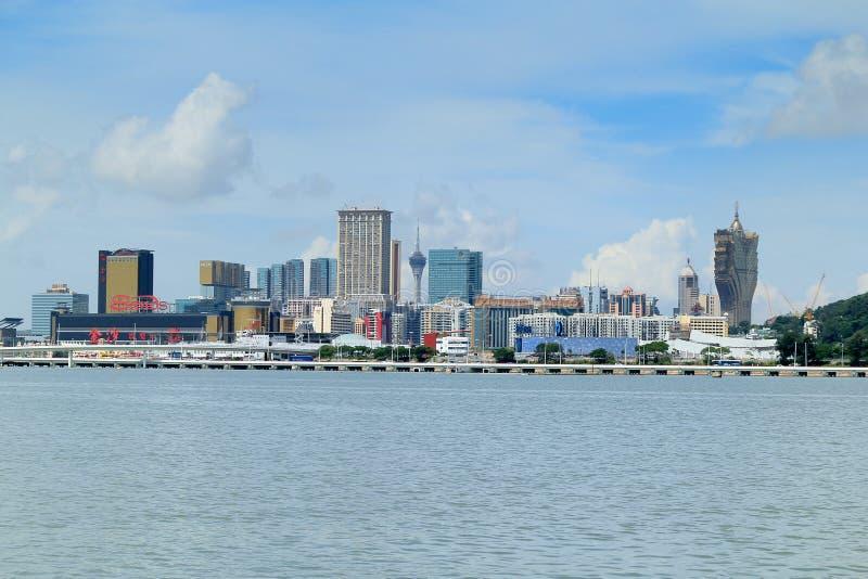 Горизонт города Макао стоковое изображение rf
