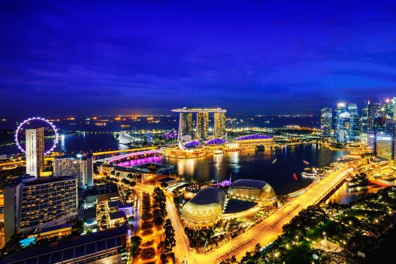 Горизонт города Сингапура стоковая фотография rf