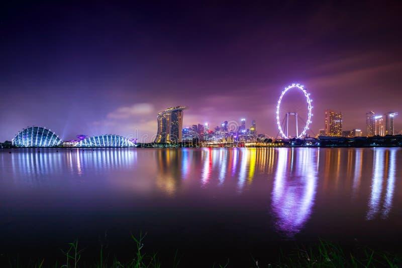 Горизонт города Сингапура стоковое изображение
