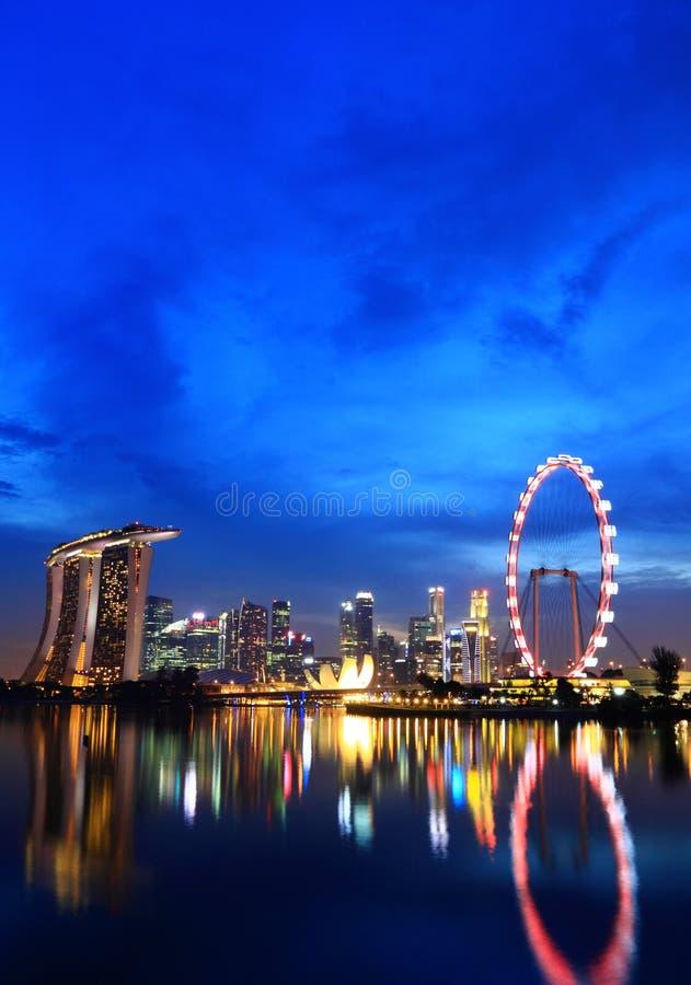 Горизонт города Сингапур стоковые фотографии rf