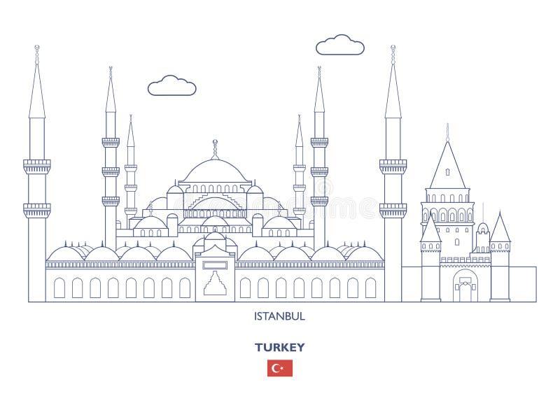 Горизонт города Стамбула, Турция бесплатная иллюстрация