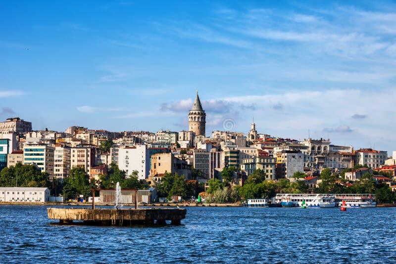 Горизонт города Стамбула стоковая фотография rf