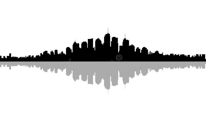 Горизонт города иллюстрация штока
