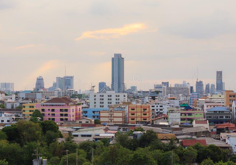 Горизонт города Бангкока, Таиланда стоковые фотографии rf