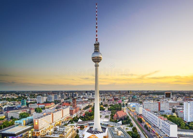 Горизонт города Берлина, Германии стоковое изображение