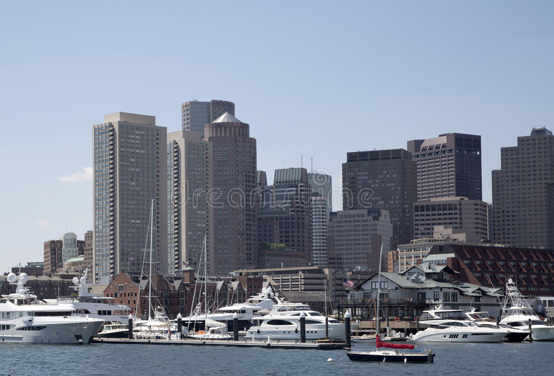 Горизонт города Бостона стоковое изображение rf