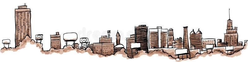 Горизонт города буйвола иллюстрация вектора
