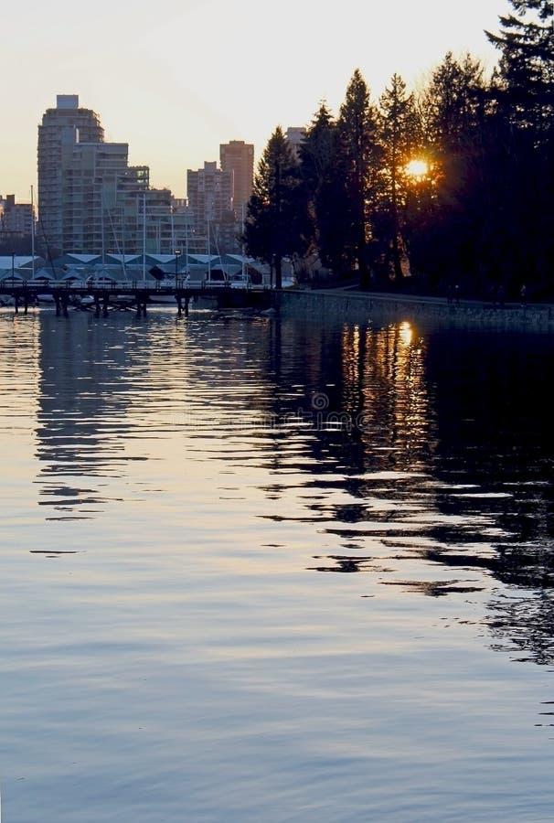 Горизонт города Ванкувера стоковые изображения rf