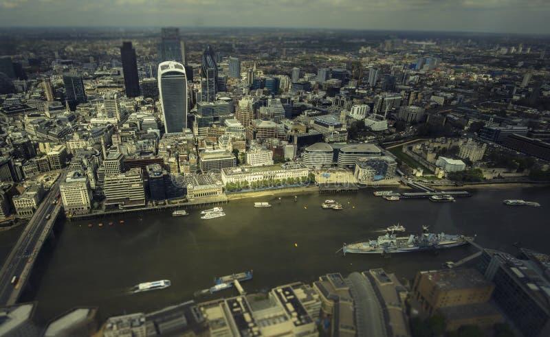 Горизонт города Лондона финансовый стоковые фото