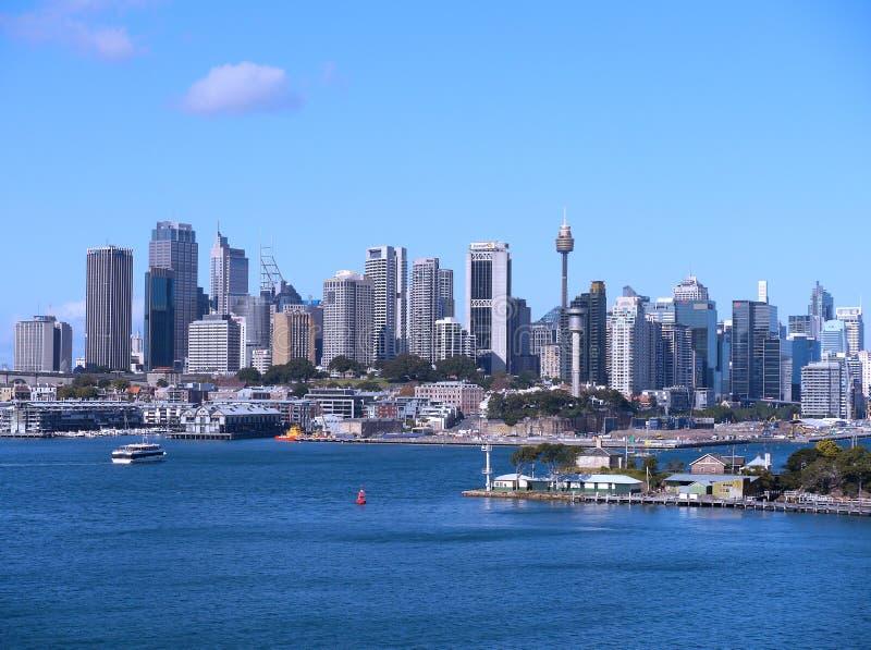 Горизонт города Сиднея стоковое фото rf