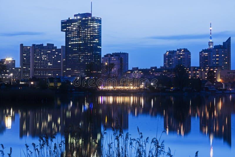 Горизонт города Donau - DC вены стоковые фото