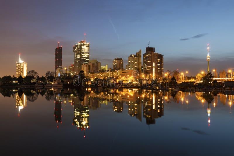 Горизонт города Donau - DC вены стоковое изображение