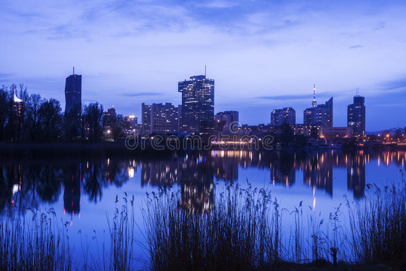 Горизонт города Donau - DC вены стоковая фотография rf