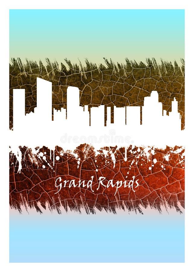 Горизонт Гранд-Рапидса голубой и белый бесплатная иллюстрация