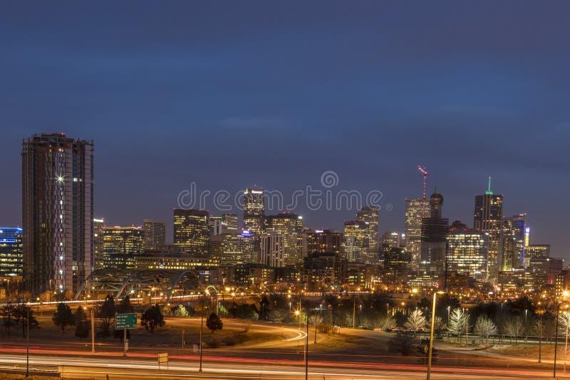 Горизонт Денвер Колорадо стоковые фотографии rf