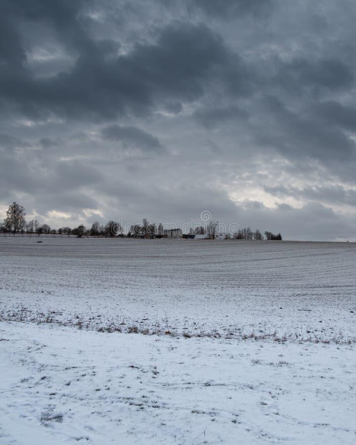 Горизонт деревни стоковое изображение