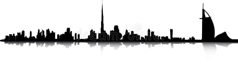 горизонт Дубай бесплатная иллюстрация