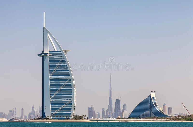 Горизонт Дубай стоковое фото rf