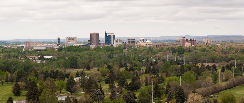 Горизонт западные Соединенные Штаты города Boise Айдахо городской стоковые изображения