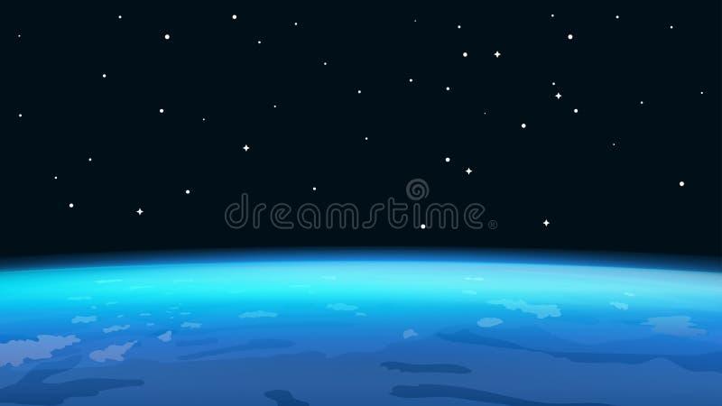 Горизонт земли планеты иллюстрация вектора