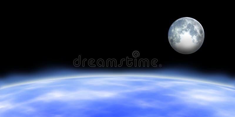 Горизонт земли иллюстрация вектора