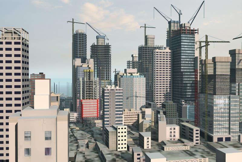 горизонт иллюстрации стоковое изображение