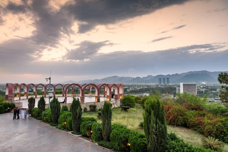 Горизонт Исламабад Пакистан стоковое изображение