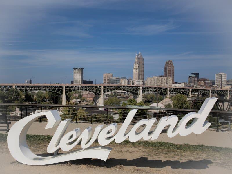 Горизонт Кливленда, Огайо стоковая фотография