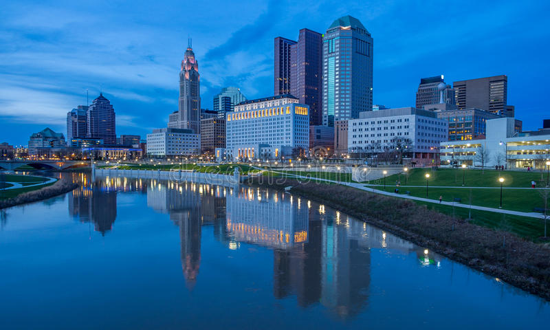 Горизонт Колумбуса Огайо стоковое фото rf