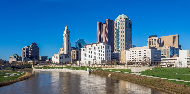 Горизонт Колумбуса Огайо стоковая фотография