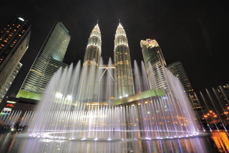 Горизонт Куалаа-Лумпур, Малайзия города. Башни Близнецы Petronas. стоковая фотография rf