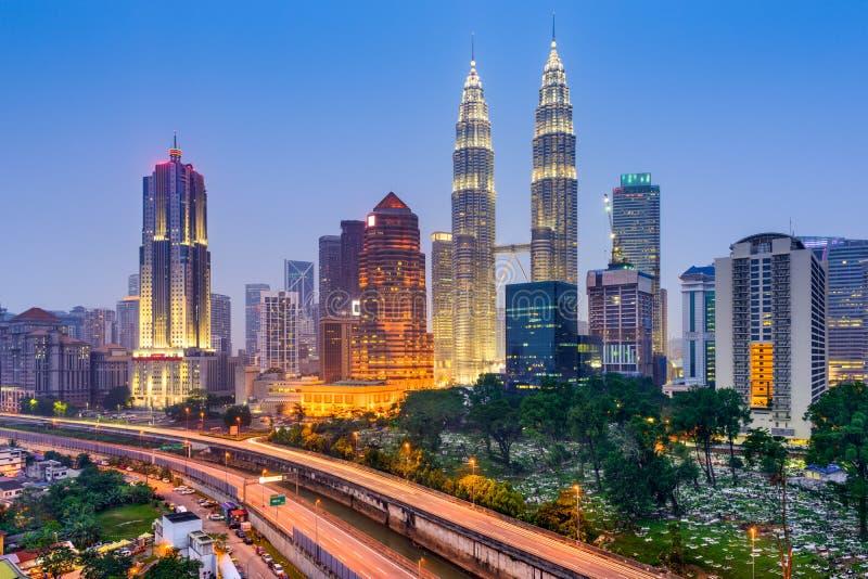 Горизонт Куалаа-Лумпур стоковое изображение