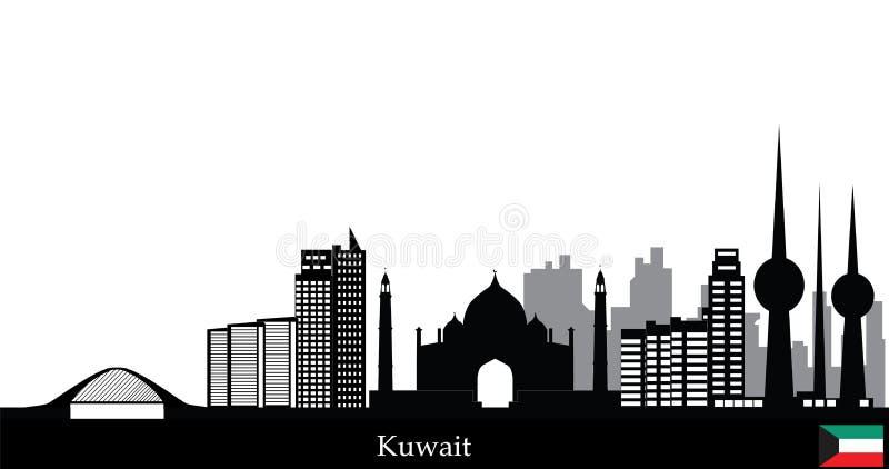 Горизонт Кувейта иллюстрация вектора