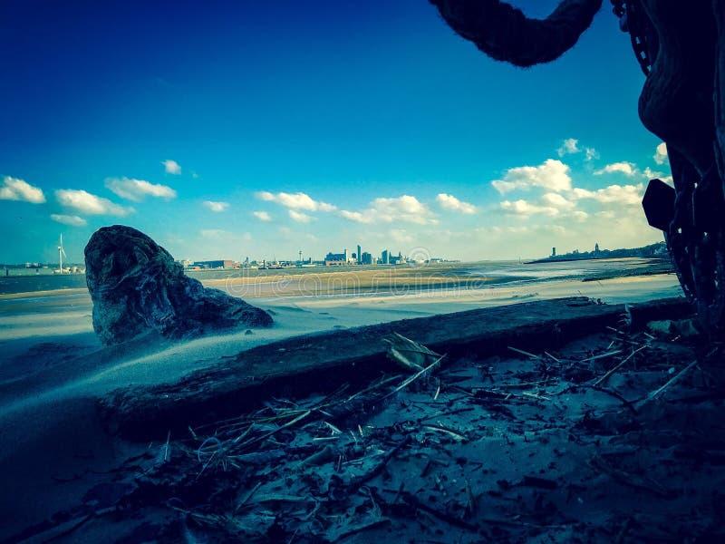 Горизонт Ливерпуля стоковые фотографии rf