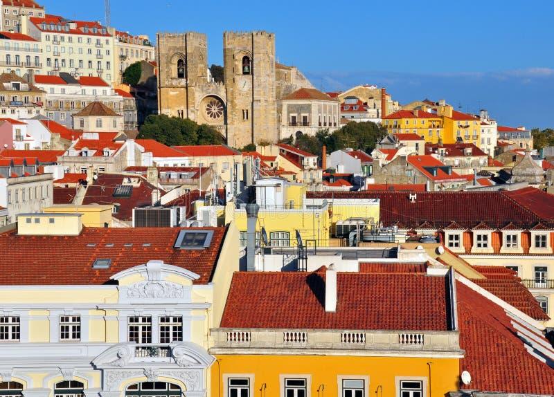 Горизонт Лиссабона стоковое изображение rf