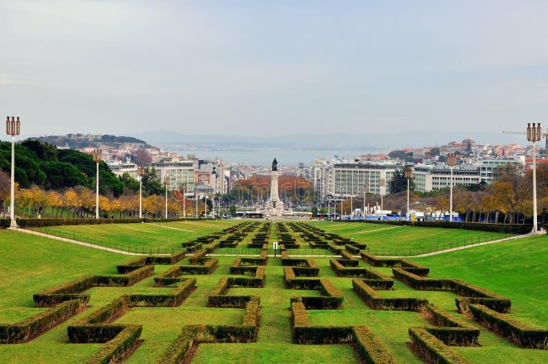Горизонт Лиссабона стоковые изображения rf