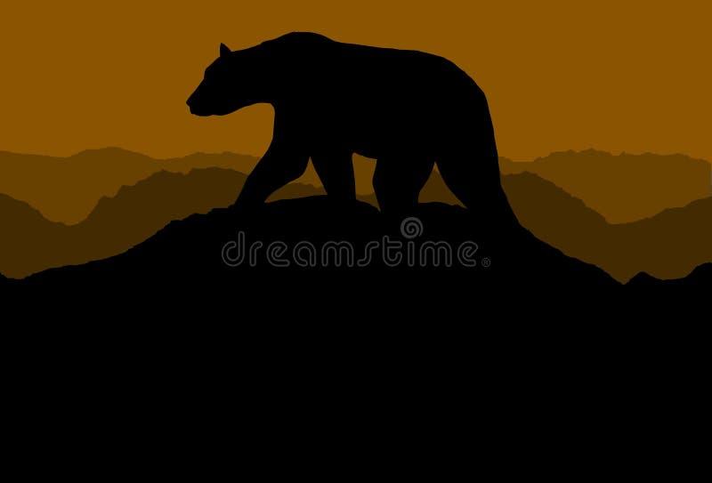 горизонт медведя иллюстрация вектора