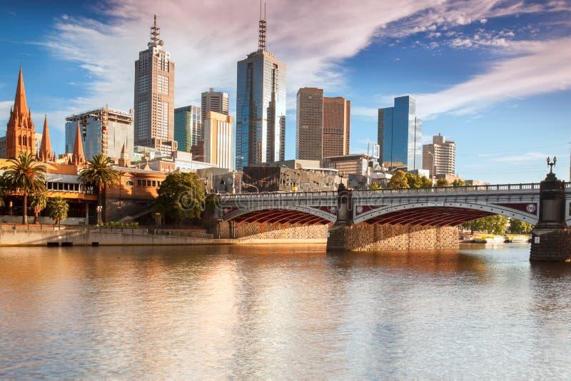 Горизонт Мельбурна стоковое изображение