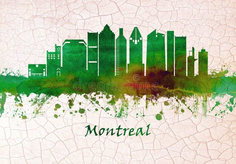 Горизонт Монреаля Канады иллюстрация вектора