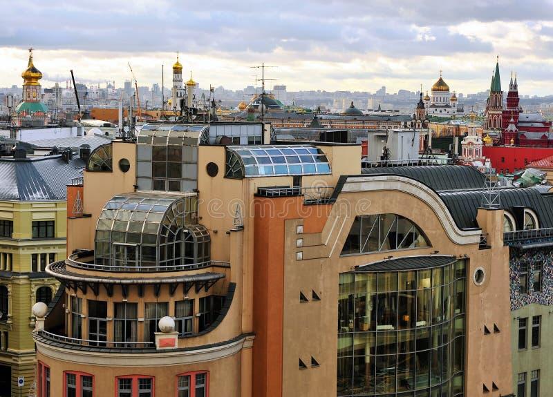 Горизонт Москвы, взгляд сверху стоковые изображения rf