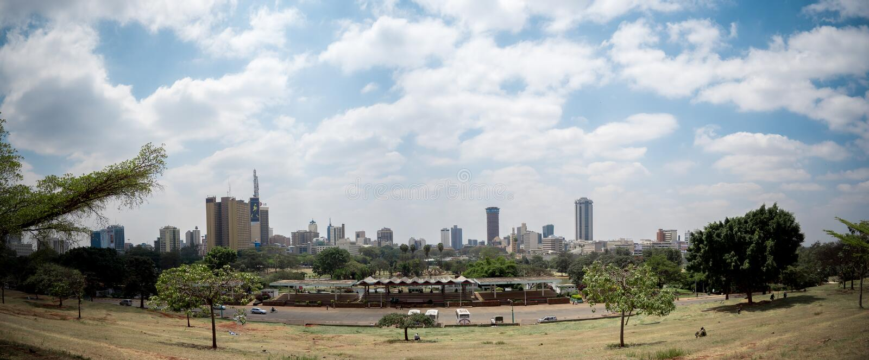 Горизонт Найроби стоковое изображение rf